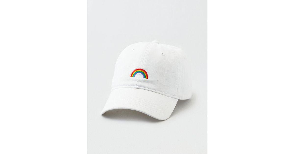 Lyst - American Eagle Pride Rainbow Strapback Hat in White for Men ec171480064d