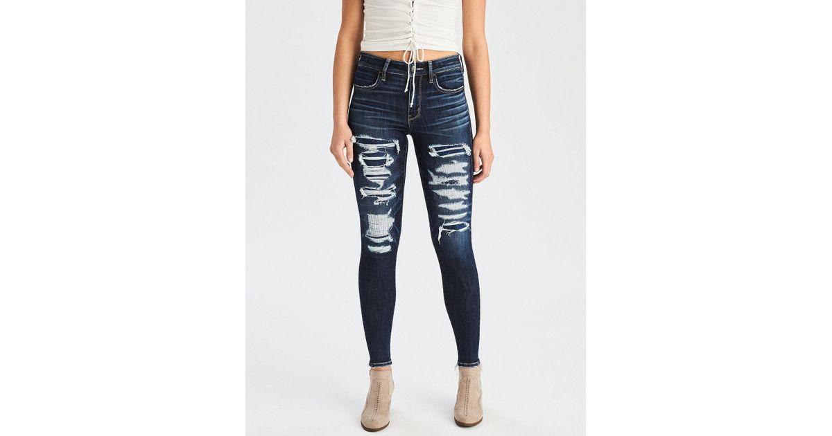 American Eagle Outers Aeo Denim X Hi Rise Jegging Crop Women Slim Fit