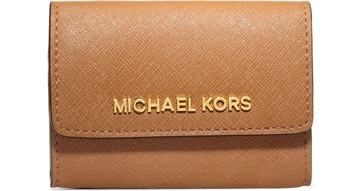 c242cc77503ed Lyst - MICHAEL Michael Kors Jet Set Travel Coin Purse in Brown