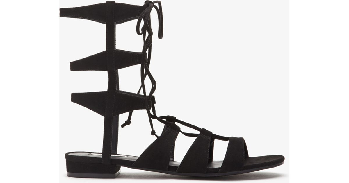 Lyst - Forever 21 Faux Suede Gladiator Sandals You ve Been Added To The  Waitlist in Black a12eba35d7a0