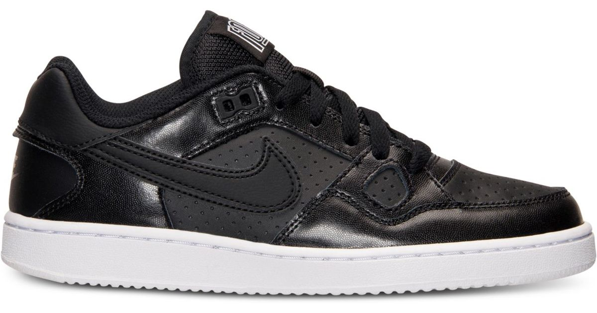buy popular 55a3f 90fbc ... Nike Womens Son Of Force Casual Sneakers From Finish Line in Black Lyst  ...