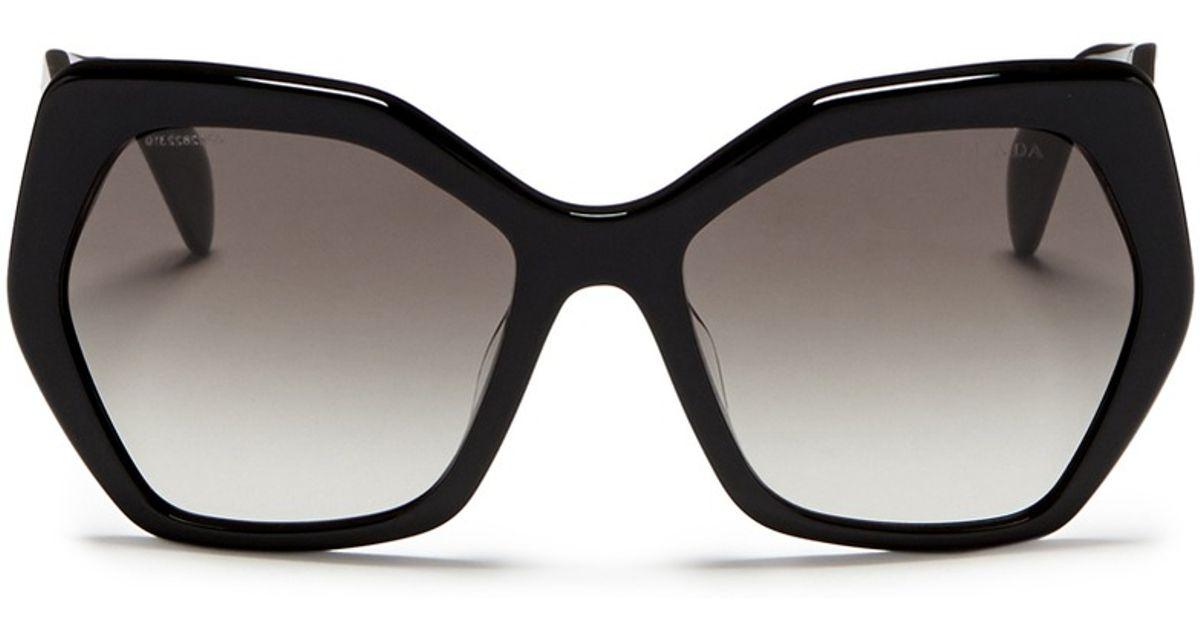 6df085593590a ... promo code for lyst prada oversize acetate angular sunglasses in black  2ae2d 3ac4d