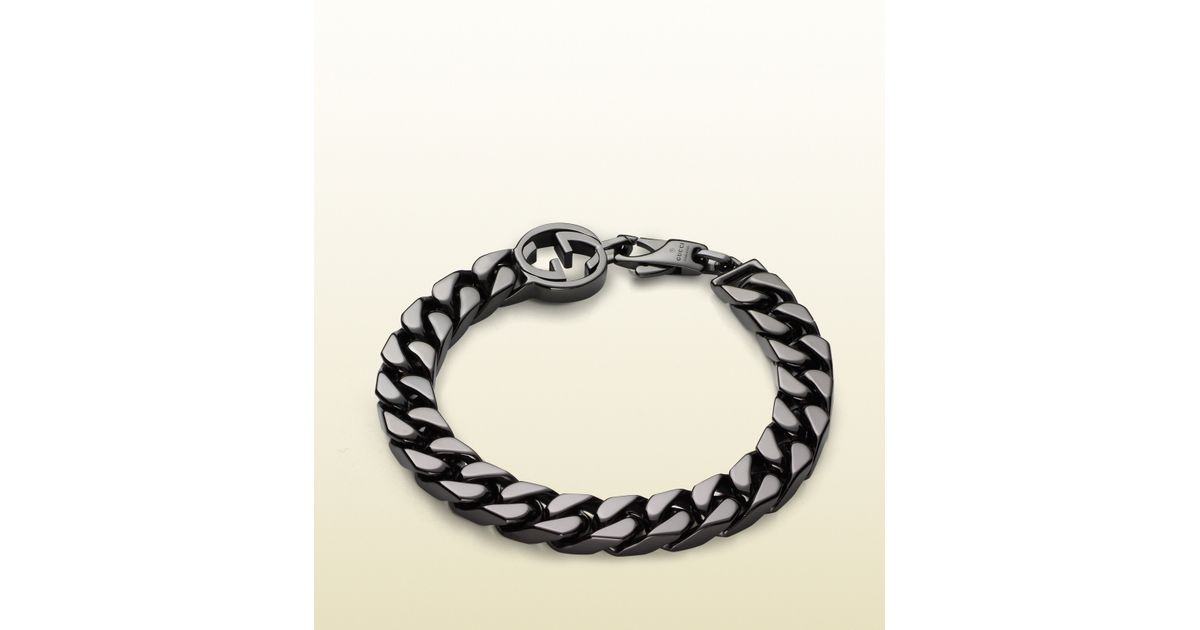 40cb058aa43e Lyst - Gucci Bracelet With Interlocking G Detail in Metallic for Men