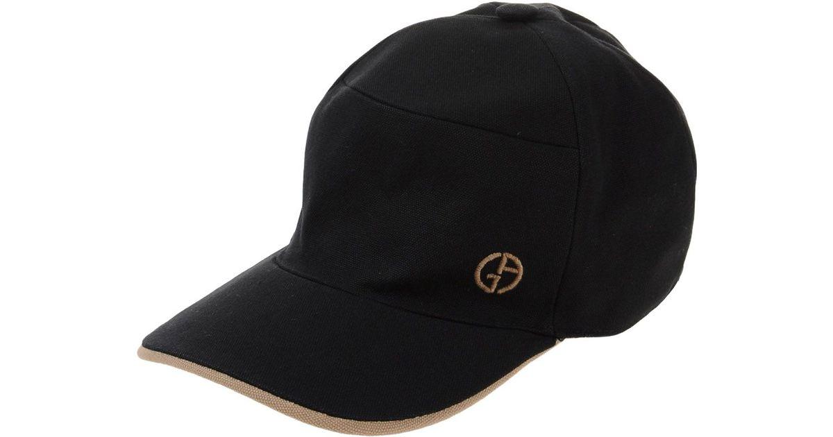 2f6f0bd23fd67 Lyst - Giorgio Armani Hat in Black for Men
