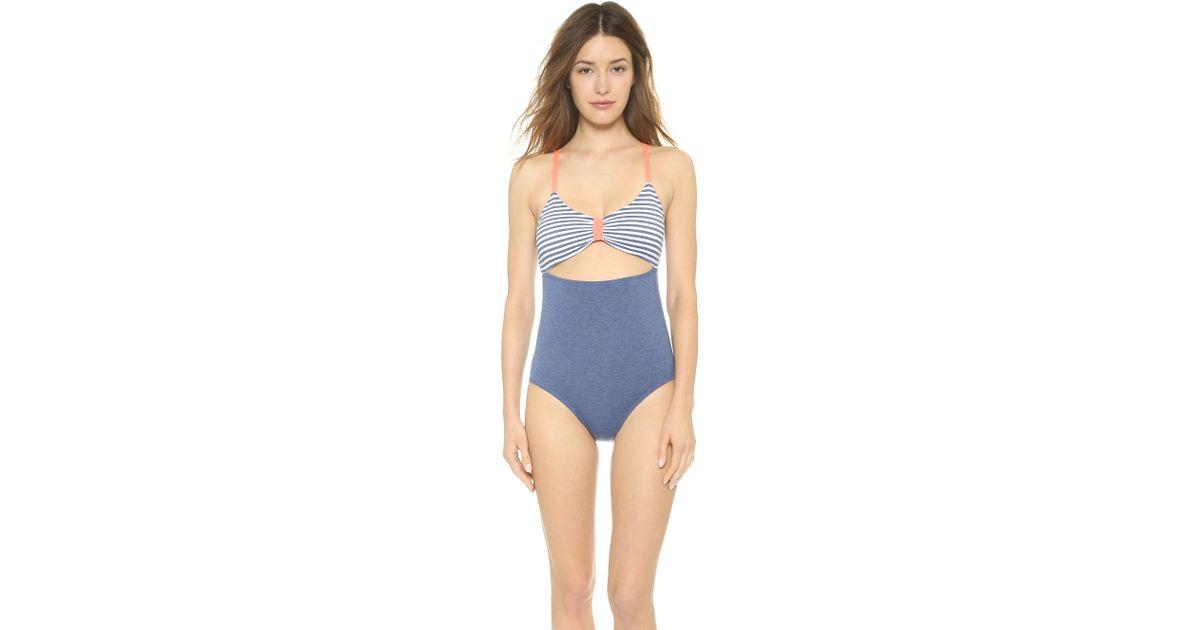 8600e9ed Splendid - Sporty Blues One Piece Swimsuit - Navy - Lyst