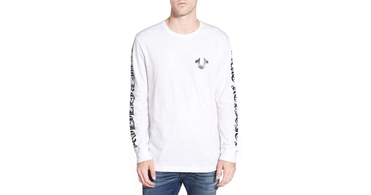 0cb49bd7c True Religion Graphic Long Sleeve T-shirt in White for Men - Lyst