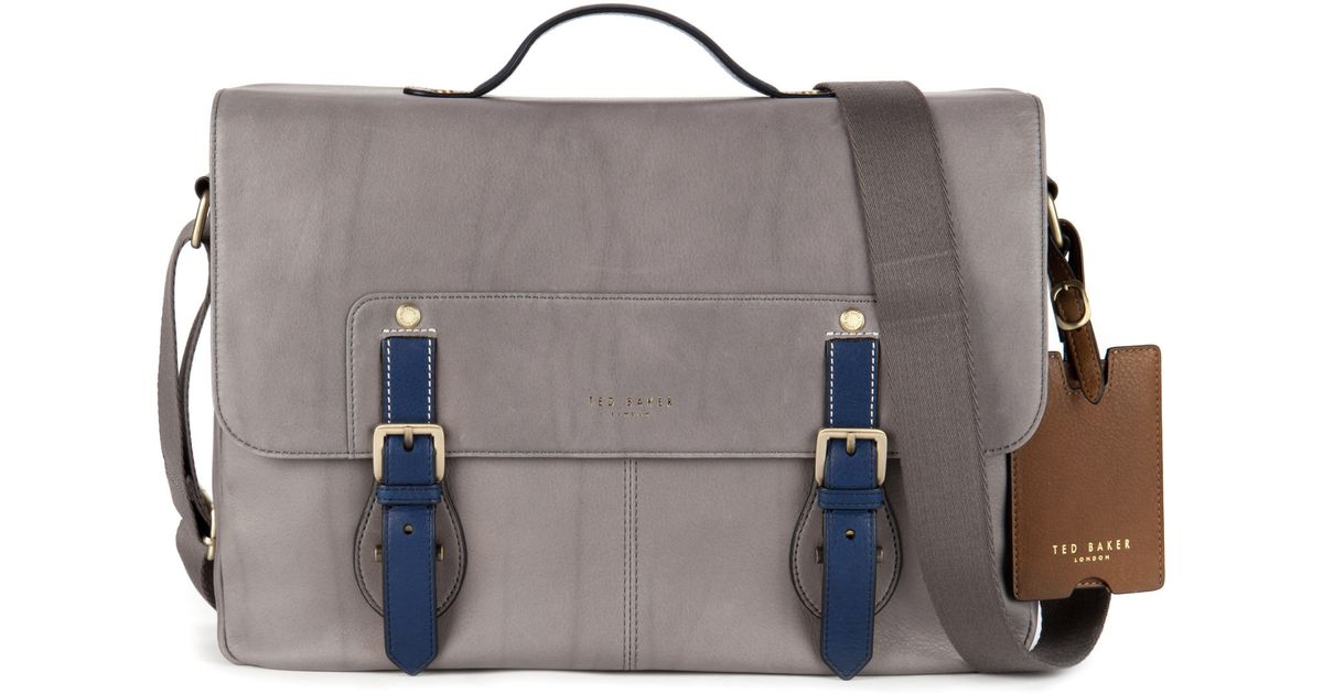 1fe40cbc7a2a46 Lyst - Ted Baker Color Highlight Messenger Bag in Gray for Men