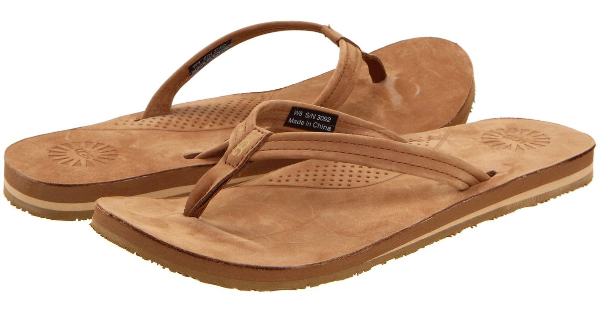 ugg kayla flip flops chestnut. Black Bedroom Furniture Sets. Home Design Ideas