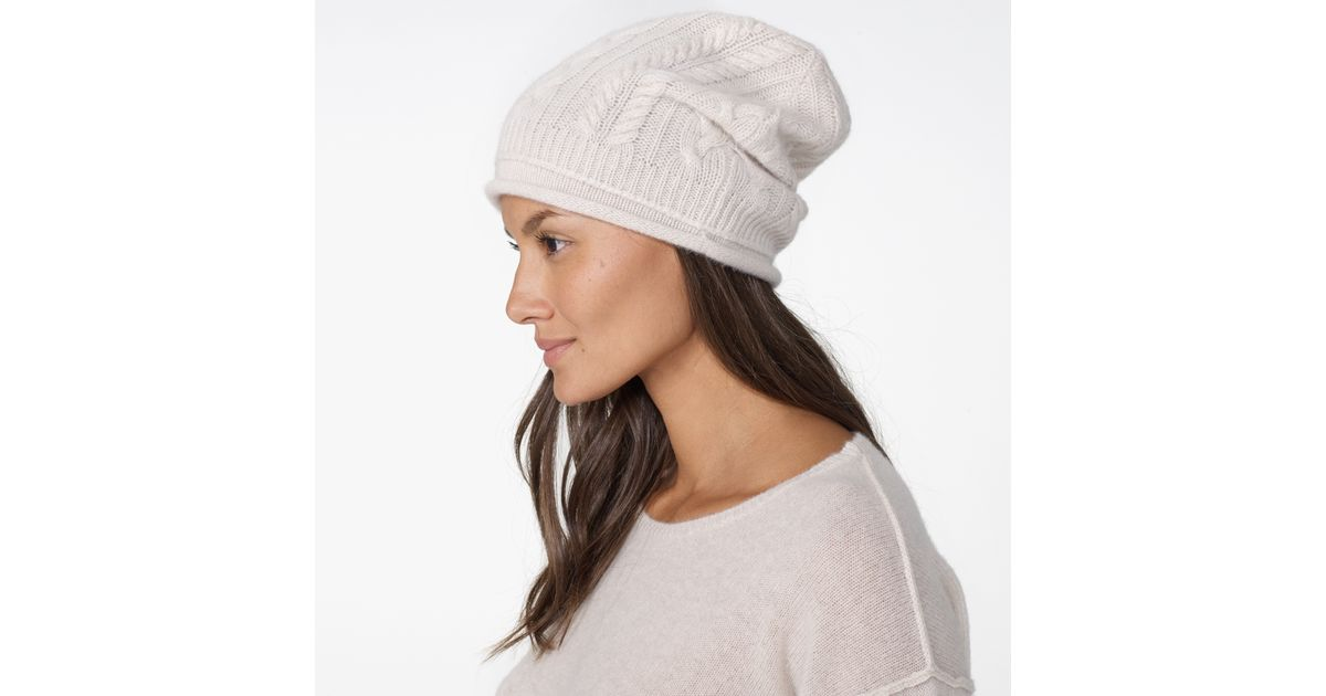 d7d18020862 James Perse Womens Gift Set - Cashmere Beanie And Scarf in White - Lyst