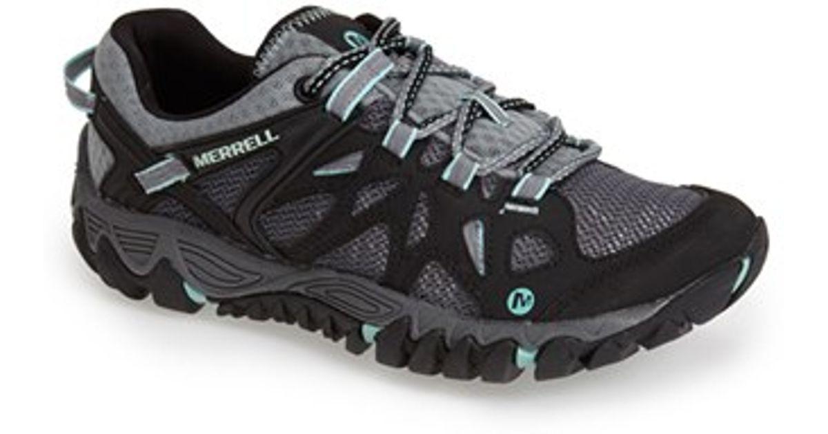 merrell all out blaze aero sport hiking shoe in black lyst