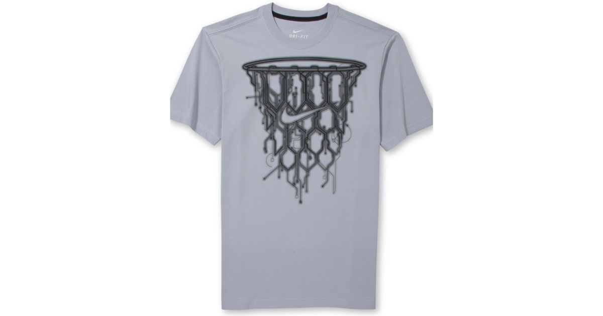 Lyst For In Nike Tshirt Men Basketball Gray Graphic Net ZfwpZ70Pq