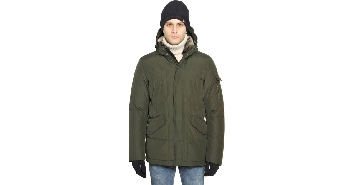 woolrich ramar cloth blizzard jacket in green for men lyst. Black Bedroom Furniture Sets. Home Design Ideas