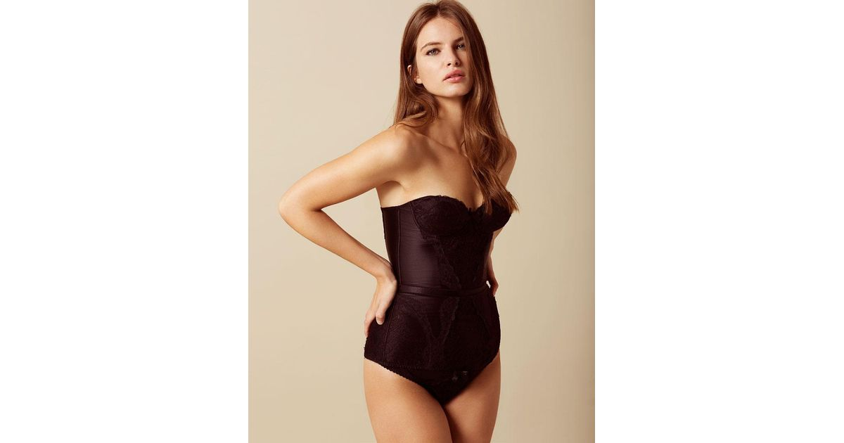 16a7b697c0 Agent provocateur andee brief black in black save lyst jpg 1200x630 Agent  provocateur corset black