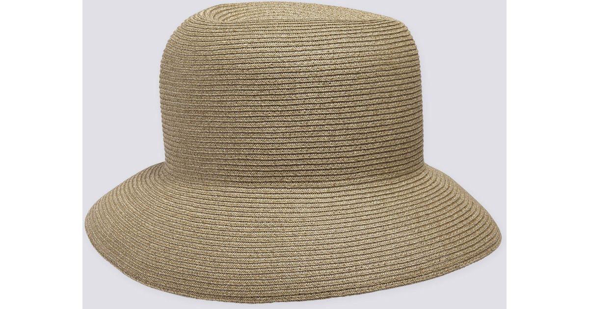 9701c342a5c3d Lyst - agnès b. Natural Fiber Naomi Hat in Natural