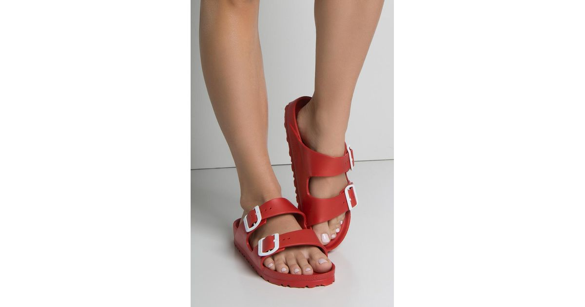 aebce2543cd Lyst - Birkenstock Arizona Eva Red in Red