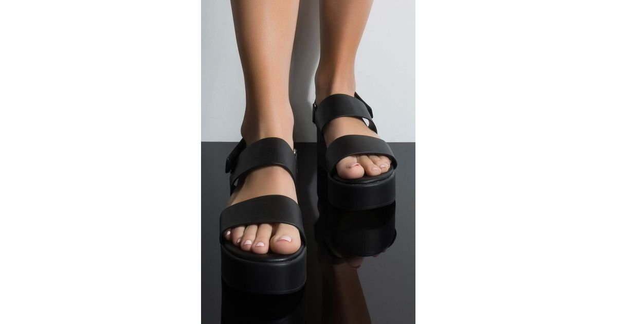a686b375829c Lyst - AKIRA Cher Is That You Platform Sandal in Black