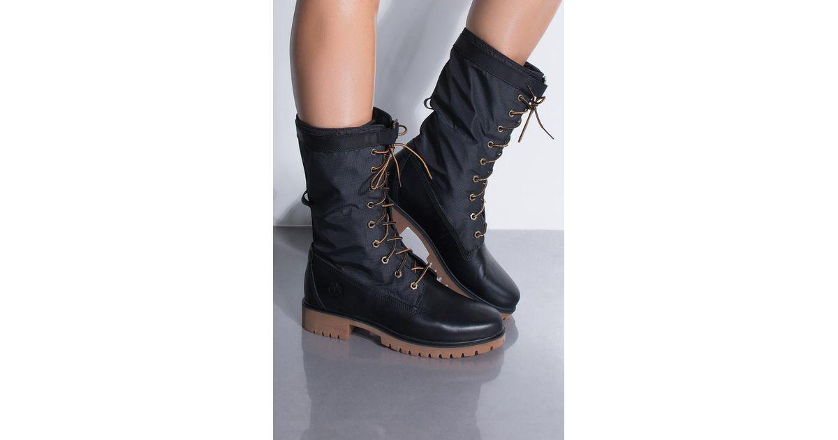 d71879c2f61 Lyst - Timberland Jayne Waterproof Gaiter Boots in Black