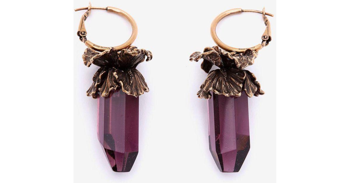 Alexander McQueen Iris pendant earrings Gjrpk5