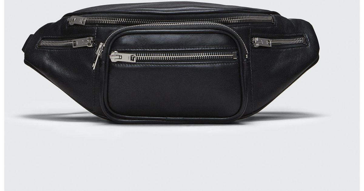 26808351383 Lyst - Alexander Wang Attica Fanny Pack In Washed Black With Rhodium in  Black