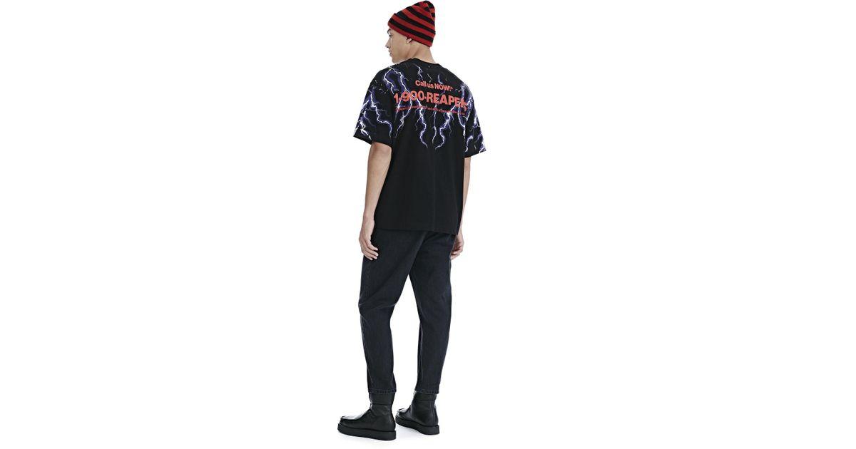 6b7b0c91 Alexander Wang Lightning Collage Short Sleeve Tee in Black for Men - Lyst