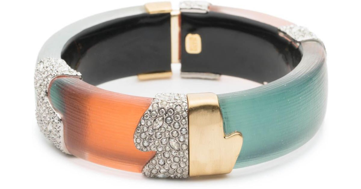 Alexis Bittar Crystal Encrusted Colorblock Bracelet PcFtJ
