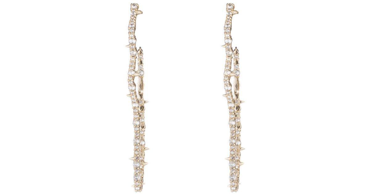 Alexis Bittar Crystal Encrusted Tulip Hoop Earrings su2RQCS