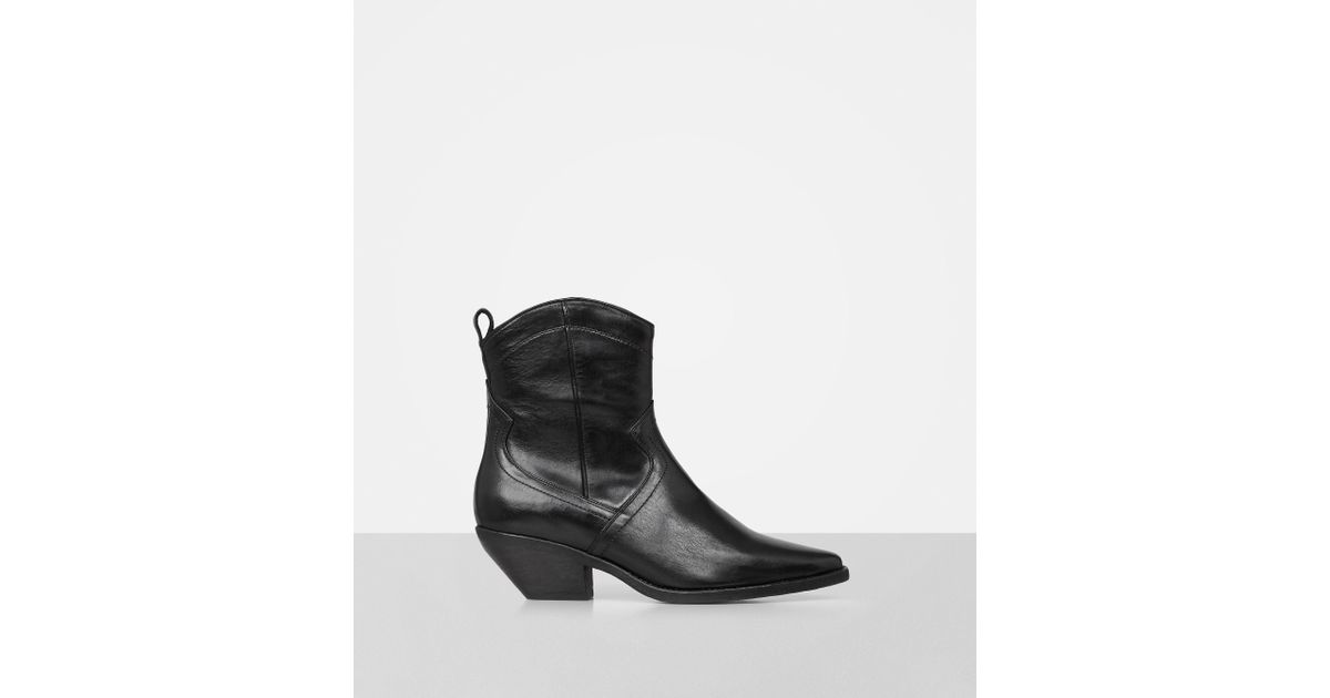 finest selection on feet at variety design AllSaints Black Lorys Boot