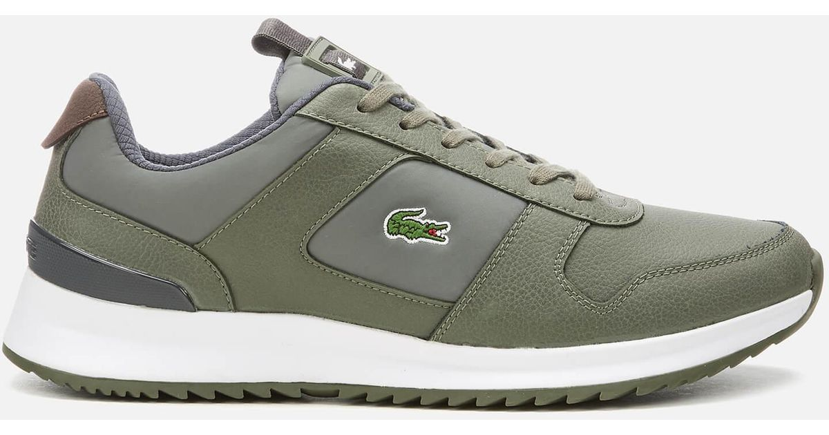 dd761b4c0fc93 Lacoste Joggeur 2.0 318 1 Textile leather Runner Style Trainers in Green  for Men - Lyst