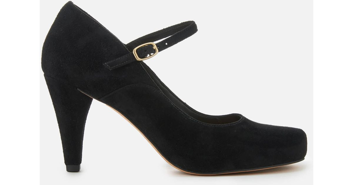 337cc2238246 Lyst - Clarks Dalia Lily Suede Mary Jane Heels in Black