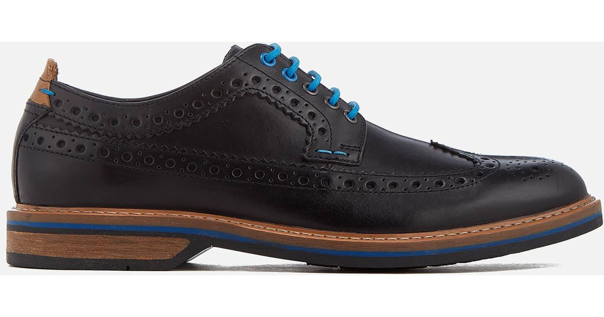 Lyst - Clarks Men s Pitney Limit Leather Brogues in Black for Men 8430b703df2