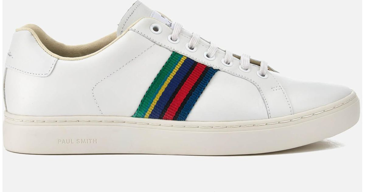 94f50530032 PS by Paul Smith Men's Lapin Leather Trainers in White for Men - Lyst