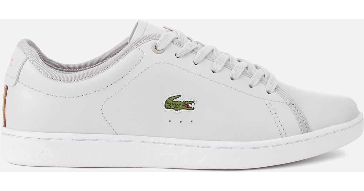 bd24881f76f753 Lyst - Lacoste Carnaby Evo 318 6 Leather Trainers in Gray
