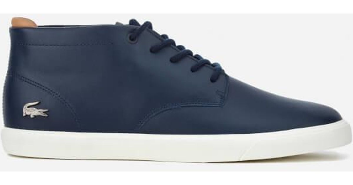 3226782bb Lacoste Men s Espere Chukka 317 1 Boots in Blue for Men - Lyst