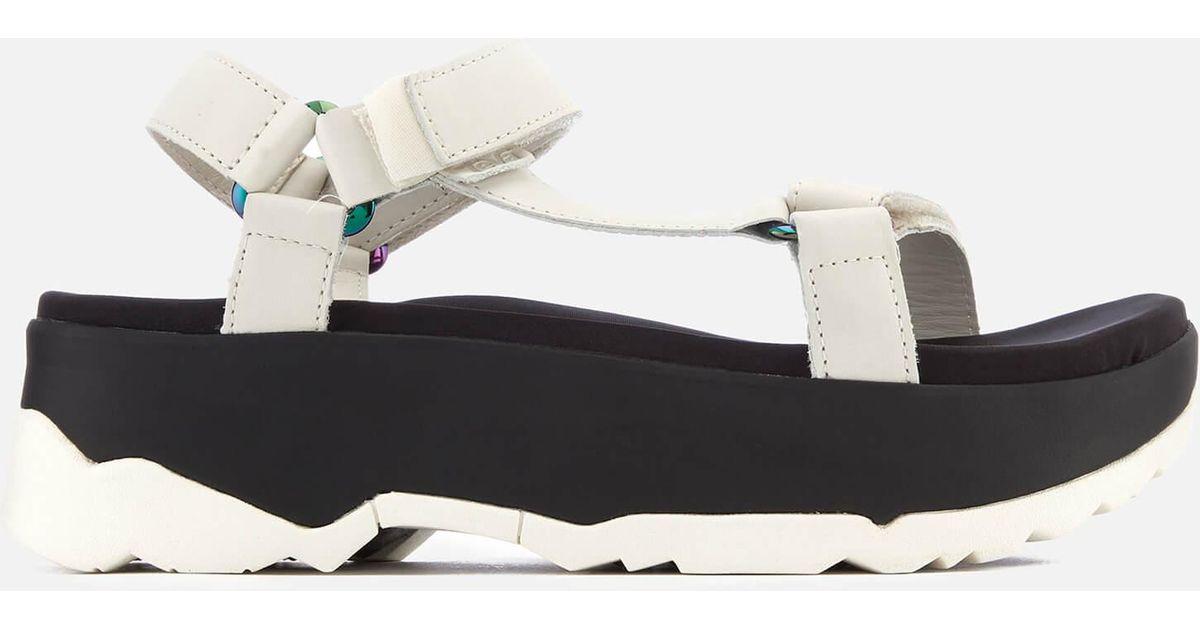 1445df1af2f3b0 Lyst - Teva Zamora Universal Flatform Sandals in White