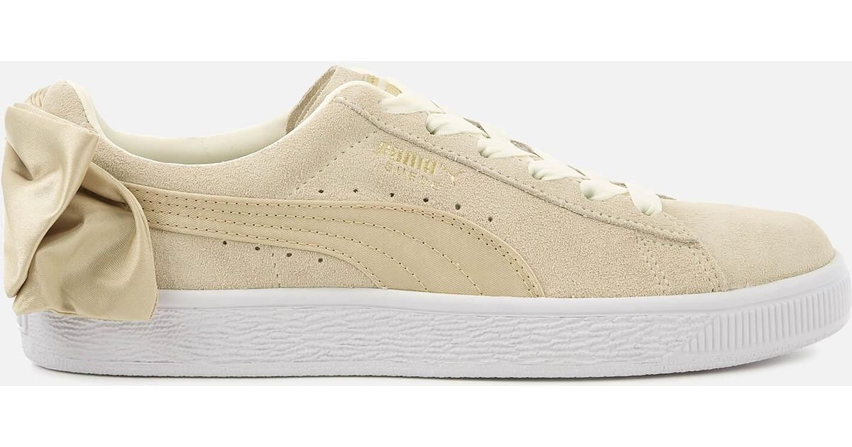PUMA Suede Bow Varsity Trainers in White - Lyst 3394afb31