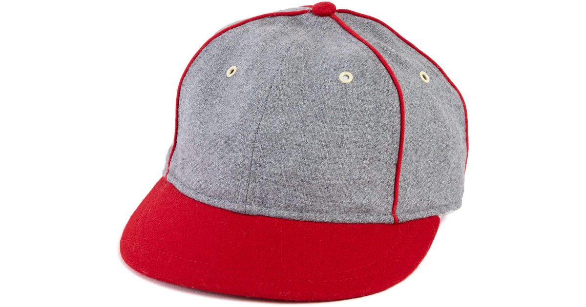 Lyst - Alternative Apparel The Wagner Old Time Shortbill Ball Cap in Red  for Men 5451a0cec18