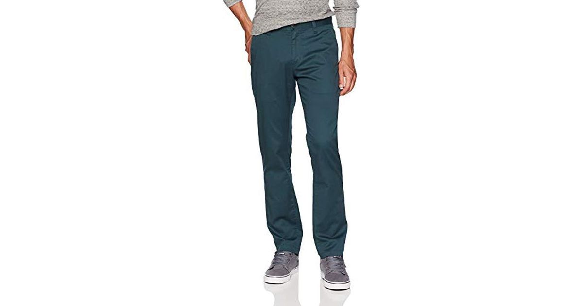 8213b48a30f Lyst - Volcom Frickin Modern Fit Stretch Chino Pant in Blue for Men