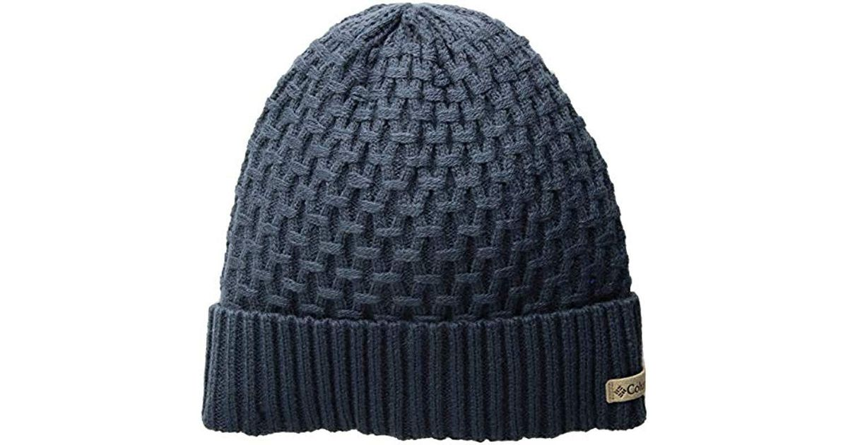 8b2feee1989 Lyst - Columbia Hideaway Haven Cabled Beanie in Blue