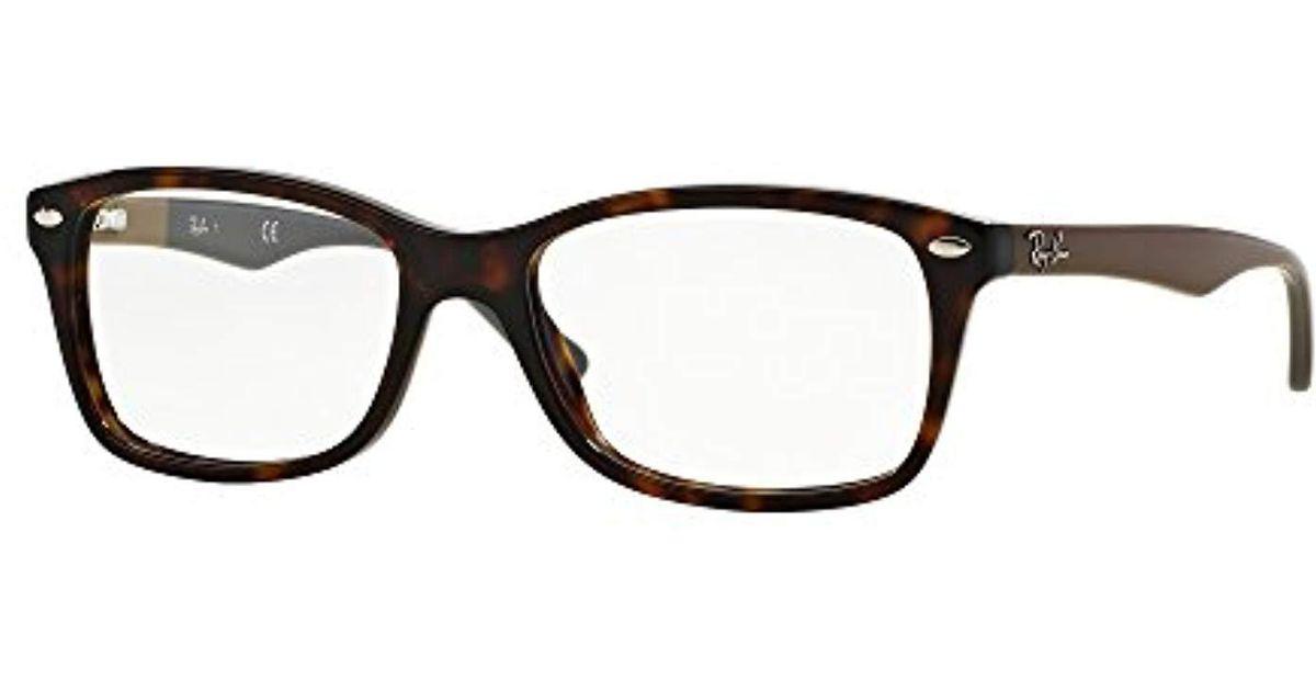 c82f11ddd83 Lyst - Ray-Ban Rx 5228 Eyeglasses in Brown