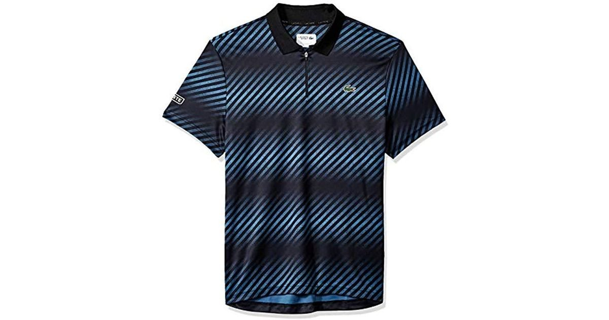 c1a15918 Lyst - Lacoste Sport Short Sleeve Ultra Dry Sublimated All Over Print Polo  in Black for Men
