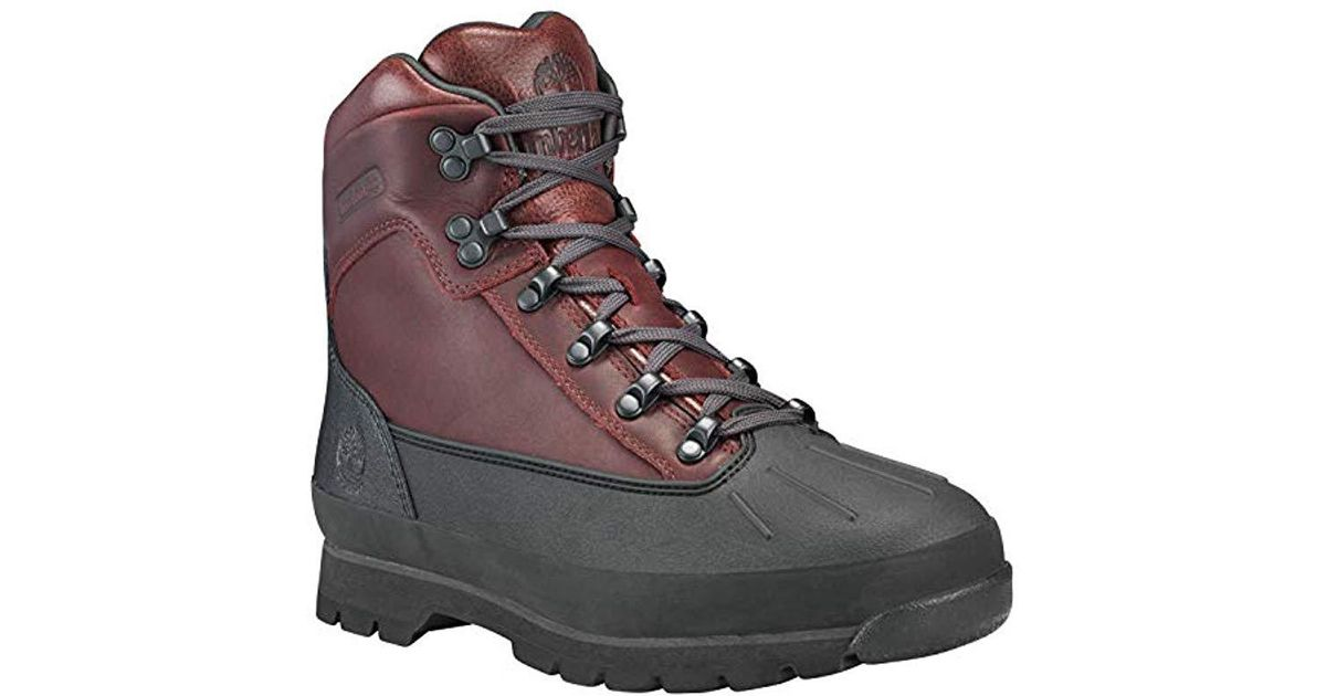 2220f3c8af1 Timberland - Brown Euro Hiker Shell Toe Wp Winter Boot for Men - Lyst