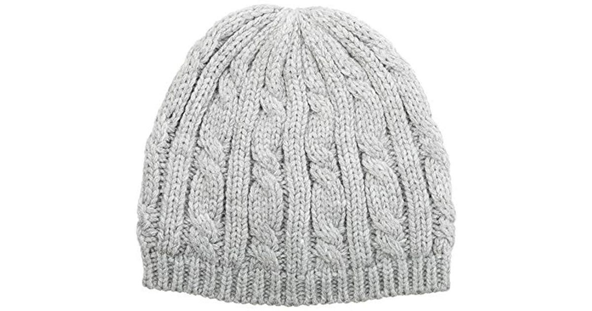02a43712f3b Lyst - Isotoner  s Cable Knit Cold Weather Beanie Hat With Warm ...