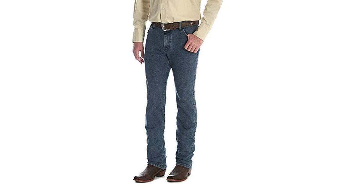 ec725618 Wrangler Premium Performance Cowboy Cut Comfort Wicking Slim Fit Jean in  Blue for Men - Save 21% - Lyst