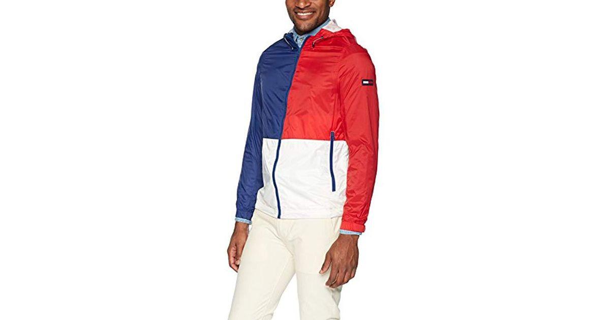 best online thoughts on the best Tommy Hilfiger - Red Jacket Lightweight Windbreaker for Men - Lyst