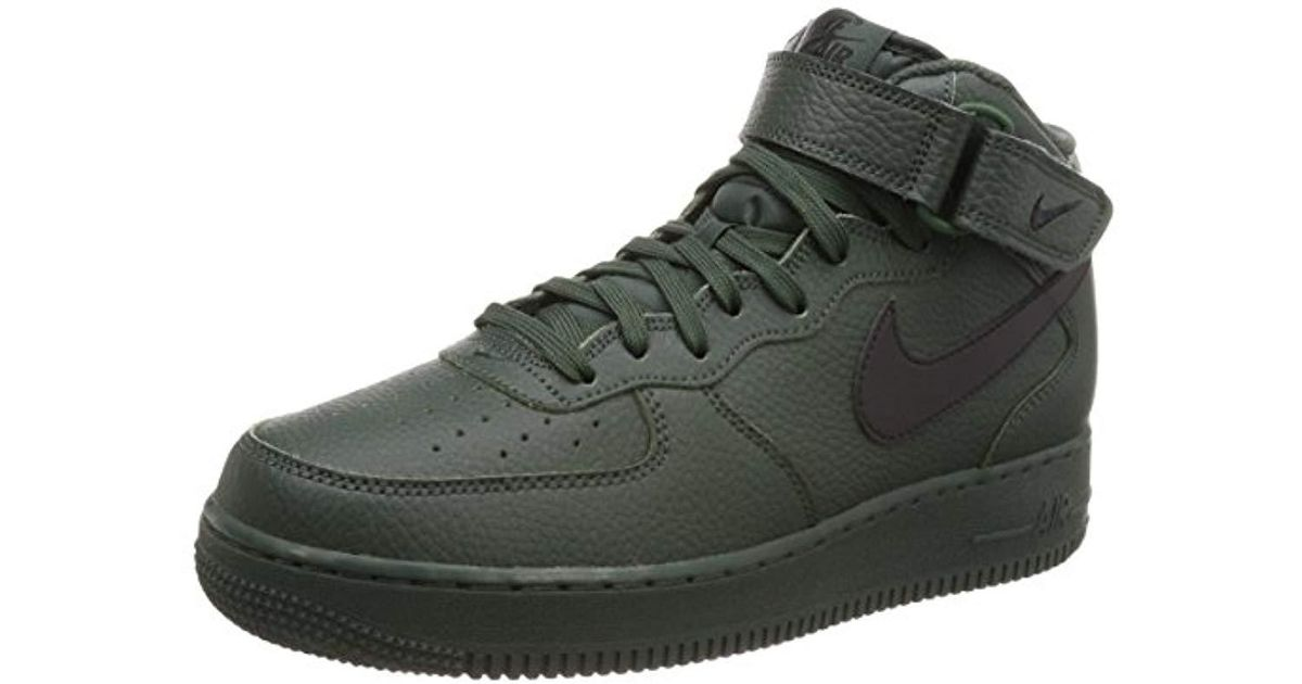 Nike - Air Force 1 Mid 07 S Trainers Green Black for Men - Lyst