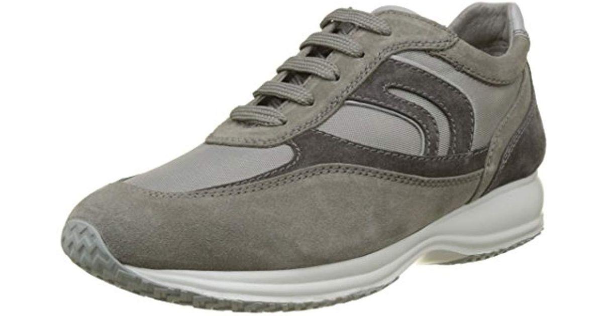 9594cceed19d46 Geox Happy 3 Oversized Sole Sneaker in Gray for Men - Lyst