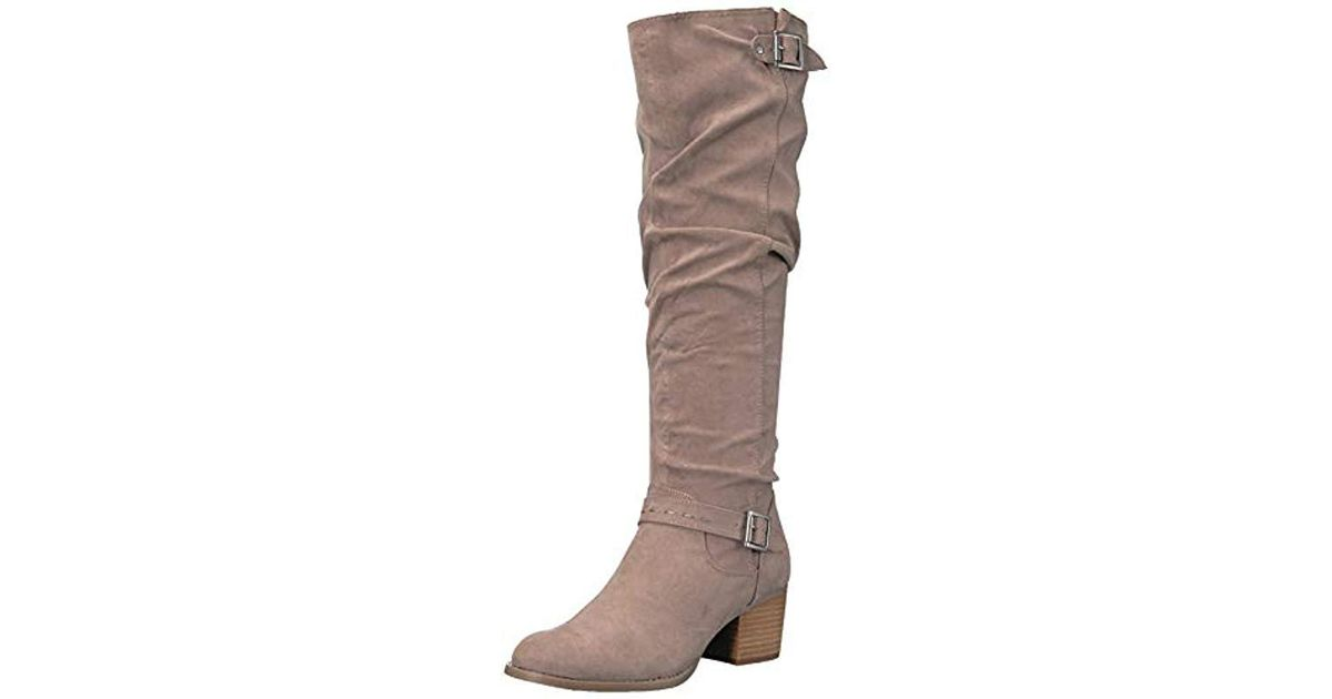 6e28f3d7ccd1 Lyst - Madden Girl Flaash Knee High Boot in Brown