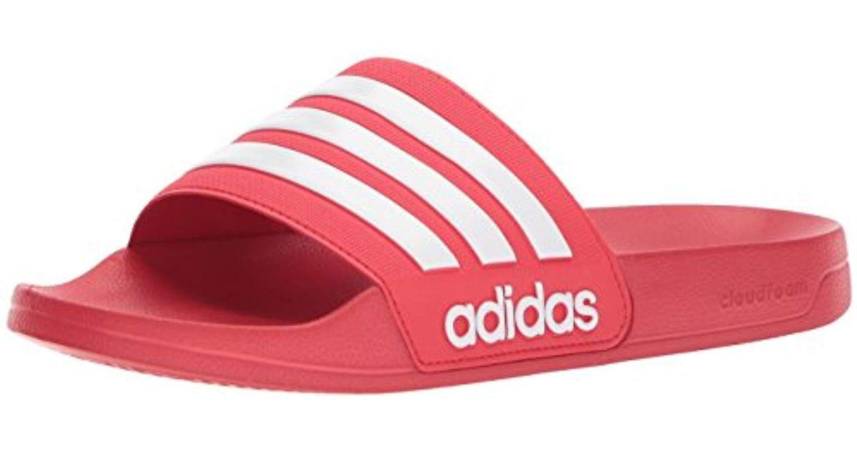 b6e92814acb21a Lyst - adidas Originals Adilette Shower Slide Sandal in Red for Men