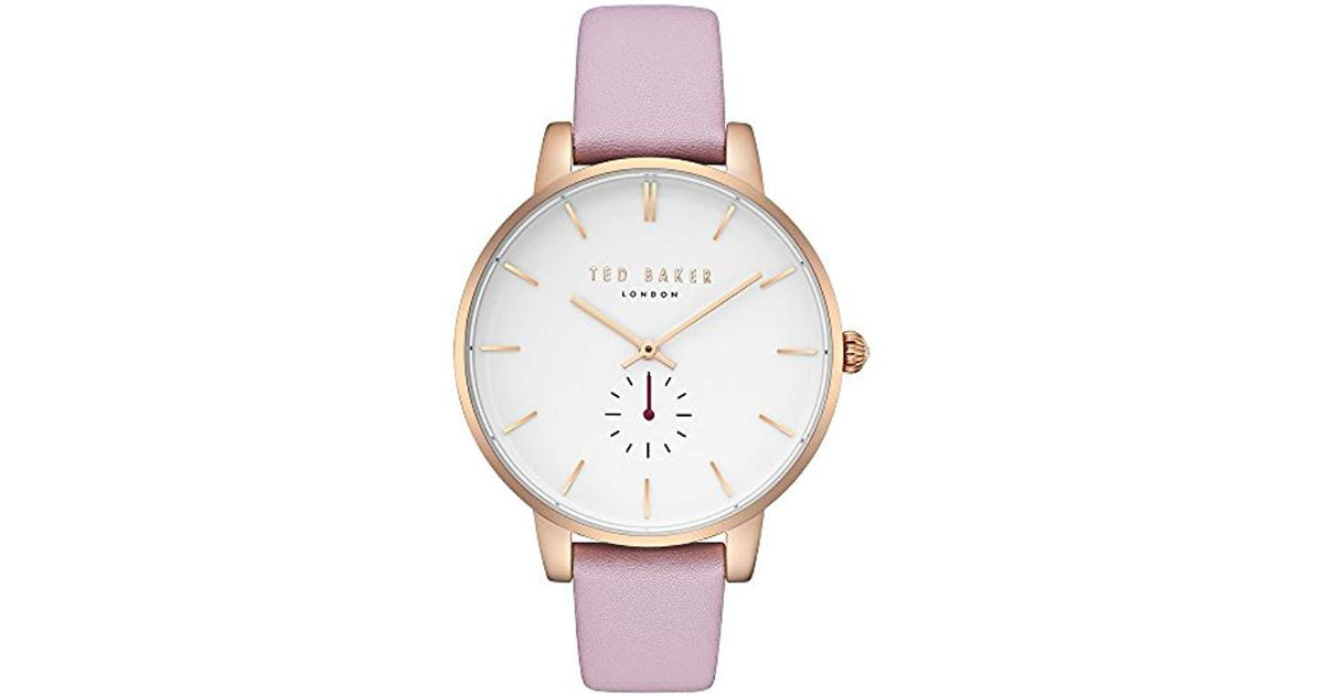 161886cf7 Lyst - Ted Baker  kate  Quartz Stainless Steel And Leather Casual Watch in  Pink