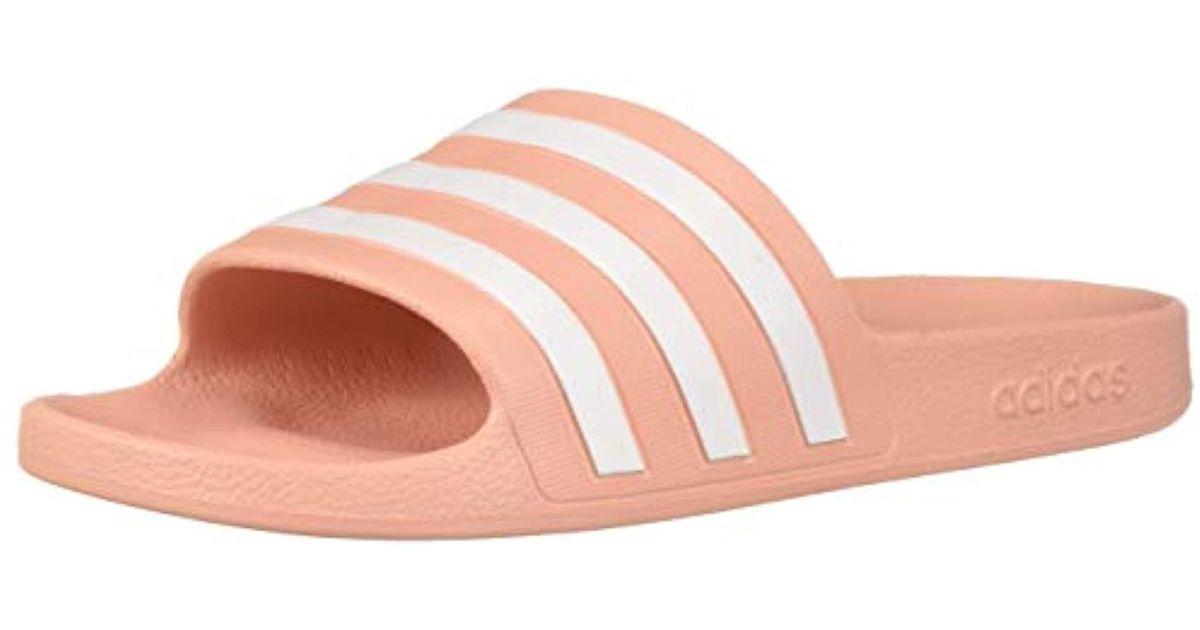 san francisco 8eef2 88762 Lyst - Adidas Adilette Aqua in Pink